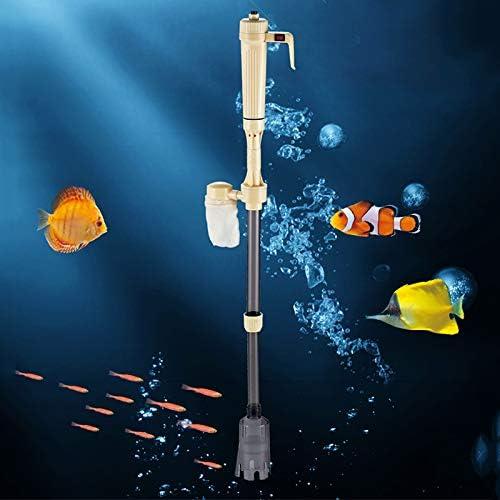 Vtops Limpiador de grava el/éctrico para acuario sif/ón autom/ático tanque de peces herramienta de limpieza para cambio de agua