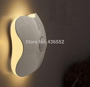 Sensor inteligente de inducción de cuerpo humano control LED Luz De Noche Dormitorio cargo K