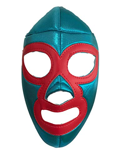 Nacho Libre Lucha Libre Mexicana Luchador Mexican Wrestling Mask Costume Adult Size, Blue, One -