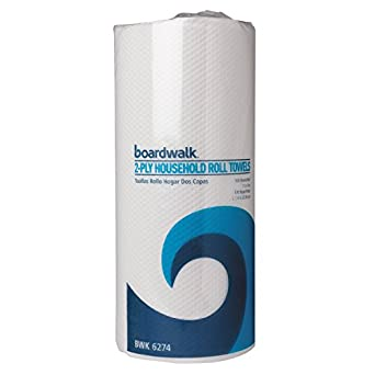 Boardwalk 6274 Paper Towel Rolls, Perforated, Two-Ply, 11 x 9, White (30 Rolls of 100)
