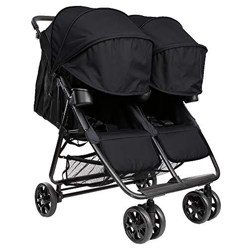 The Twin Zoe XL2 – Best Double Stroller – Everyday Twin Stroller with Umbrella