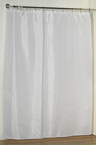 Royal Bath Stal Size Water Repellant Fabric Shower Curtain Liner with Weighted Hem (54