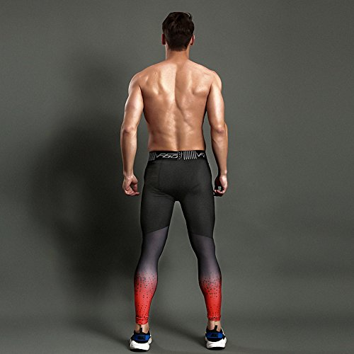 a9064615656e0 Gerlobal Men's Compression Tights Advanced Compression & Muscle Recovery  Leggings for Training,Running & Athletics