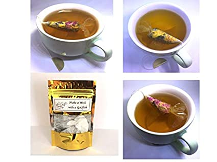3 tea samples gift box goldfish tea bags earl grey herbal mint rose tea novelty gifts