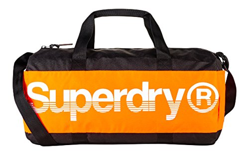 Sac De Sport Superdry Montana Barrel Black /orange Sacs portés main homme Nero (Black/orange/white) 49.0x25.0x25.0 cm (W x H L) M91007DP
