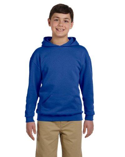 (Jerzees Youth 8 oz., 50/50 NuBlend Fleece Pullover Hood, XL, ROYAL)