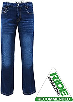 bull-it Hombres BONDI SR6 AZUL MOTO Pantalones GB NORMAL W42