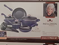 Paula Deen Blue 17 Piece Dishwasher Safe Nonstick Signature Collection Cookware