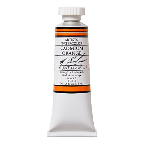 M. Graham 1/2-Ounce Tube Watercolor Paint, Cadmium Orange