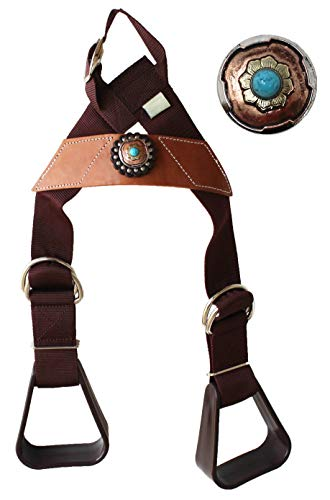 CHALLENGER Horse Saddle Western Kids Child Youth Pony Buddy Stirrups w/Concho 5138CO552