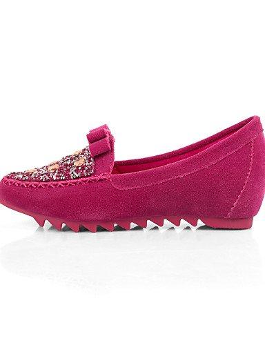 Tipo Talón Ante azul Casual us7 Cn38 cerrado 5 5 morado punta Zapatos de Mocasín De Purple Redonda Mujer Negro Plano rosa Eu38 Uk5 Toe Pdx Flats RwIX0a6qx