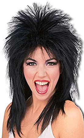 ROCK Star Wig Black (peluca)