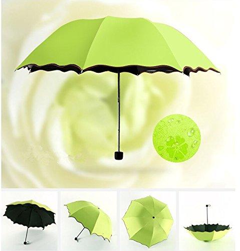 Blue Diadia Wind Proof,UV Proof Reverse Folding Umbrella Mini Rain Umbrella Travel Umbrella Pocket Parasol Case Handle for Traveling,Shopping,Camping,Dating