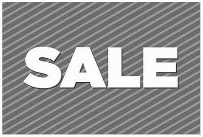 CGSignLab 36x24 5-Pack Sale Stripes Gray Window Cling