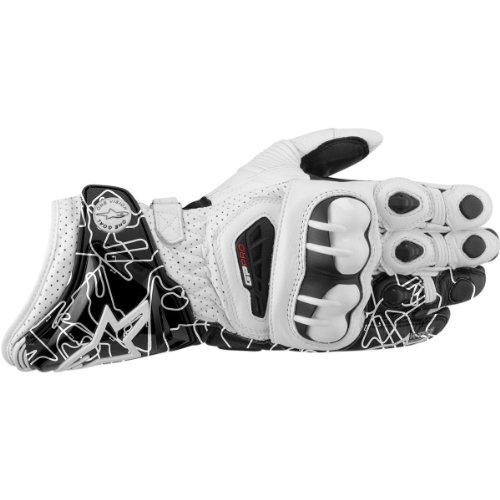 Alpinestars GP Pro Tracks Leather Gloves 2012 White Black L/Large