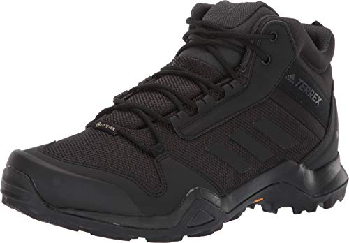 - adidas outdoor Terrex Ax3 Mid GTX Mens Hiking Boot Black/Black/Carbon, Size 10