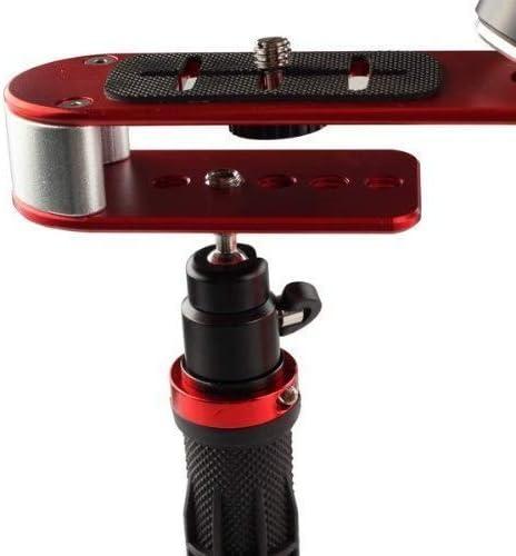 MEETOZ Pro Steadycam stabilisateur de vid/éo avec poign/ée stabilisateur de prise en charge stable pour appareil photo Canon Nikon Sony Cam/éscope DV DSLR