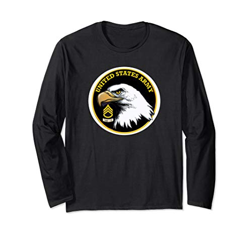 Army Retired Staff Sergeant Eagle Long Sleeve T-Shirt