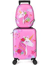 Kids Luggage Unicorn Suitcase for Girls - Toddler Luggage Childrens Luggage for Girls With Wheels