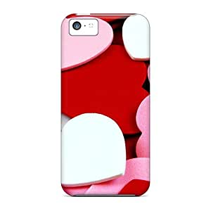 Tpu Case For Iphone 5c With Tons Of Hearts
