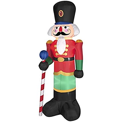 gemmy industries airblown nutcracker christmas decoration multicolored nylon 2421 in x 1634 - Nutcracker Christmas Decorations