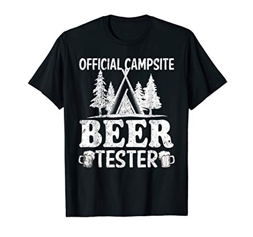 Shirt Beer Camp - Official Campsite Beer Tester Shirts Camping T-Shirt Gifts