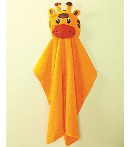 Towel Hooded Embroidered - Embroidered Giraffe Face Hooded Towel