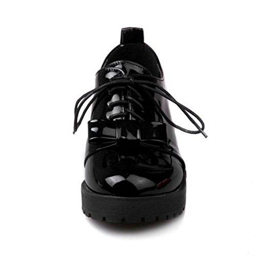 Coolcept Zapatos Atados con Bowkont para Mujer Black