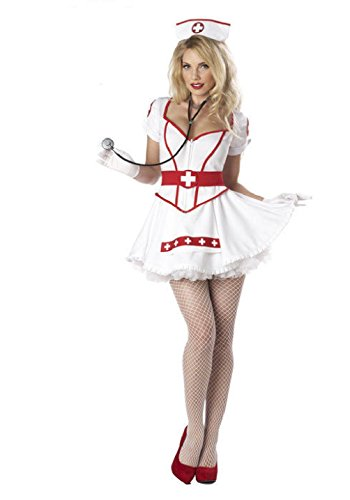 Women's Plus Size Nurse Heartbreaker Costumes (Sexy Nurse Heart Breaker Eye Candy Halloween Costume Cute Adult Womens / Ladies)