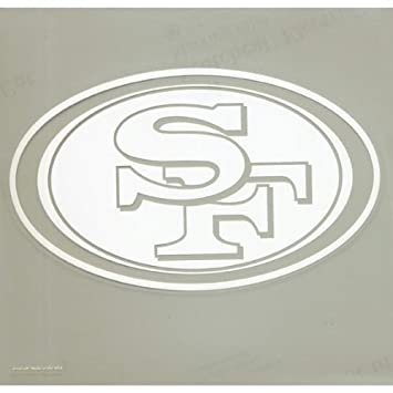 47c885c8 San Francisco 49ers - Logo Cut Out Decal: Amazon.co.uk: Car & Motorbike