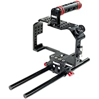Filmcity Camera Cage for Panasonic Lumix GH4 / GH3 and Sony A7 / A7r / A7s (FC-A7G34) | Cage with Top Handle and Accessories