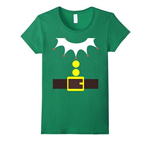 Female Elf Costume Ideas (Womens Elf Costume TShirt Funny Christmas / Xmas Santa Helper Shirt Medium Kelly Green)