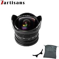 7artisans 7.5mm F2.8 APS-C Wide Angle Fisheye Fixed Lens For Sony Emount Cameras Like A7 A7II A7R A7RII A7S A7SII A6500 A6300 A6000 A5100 A5000 EX-3 NEX-3N NEX-3R NEX-C3 NEX-F3K NEX-5 NEX-5N -Black