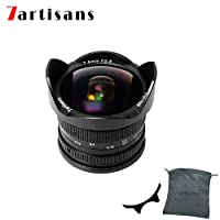 7artisans 7.5mm F2.8 APS-C Wide Angle Fisheye Fixed Lens For for Compact Mirrorless Cameras Panasonic Micro 4/3 MFT Mount G1 G2 G3 G5 G6 G7 GF1 GF2 GX1 GX7 GM1 GM5 GH1-Black