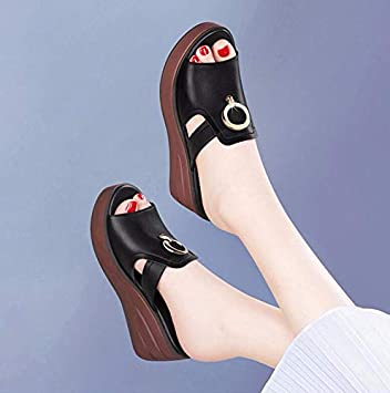 GTVERNH Womens Shoes//Muffin Thick Bottom Slippers Summer Fashion Wear Beach