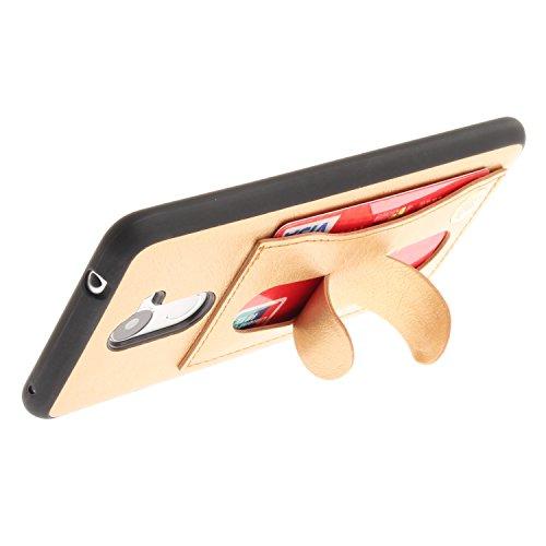 Funda Huawei Y7, SsHhUu Retro Piel PU para A prueba de golpes Protección Card Slot Holder Ocultar Metal Kickstand pour Huawei Y7 / Nova Lite+ / Ascend XT2 (5.5) doro doro