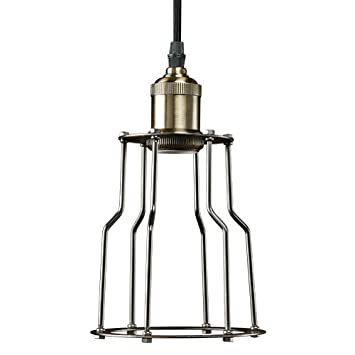 Bulbrite NOS/PEND/CAGE-PW Vintage 1-Light Brass Industrial Cage Mini  sc 1 st  Amazon.com & Bulbrite NOS/PEND/CAGE-PW Vintage 1-Light Brass Industrial Cage Mini ...