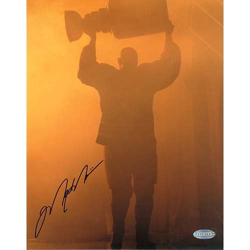 NHL Mark Messier Oilers Retirement Night Entering through Smoke with Stanley Cup Autographed 8-by-10-Inch Photograph