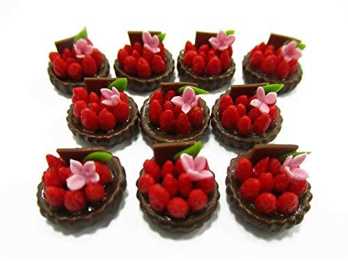 Miniature Mini Strawberry Fruit Tart Cake Bakery Food Dollhouse Lot10