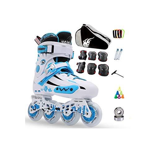でパンダ縮約ailj インラインスケート、スケート、大人の子供、男性と女性、ローラースケートのセット、プロフェッショナルコンビネーション、多機能スケート(3色) (色 : 青, サイズ さいず : EU 41/US 8/UK 7/JP 25.5cm)