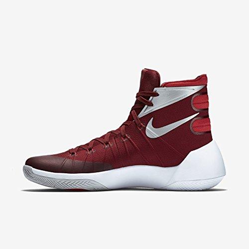 Nike Herren Hyperdunk 2015 Basketballschuh Team Rot / Universität Rot / Weiß / Metallic Silber