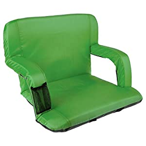 Home-Complete Wide Stadium Seat Chair Bleacher Cushion with Padded Back Support