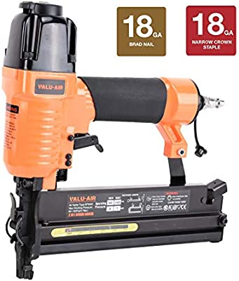 Narrow Crown Stapler Air Nailer Gun 18-Gauge Brad Nailer Staple Gun 2-in-1 1//4/""
