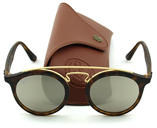 Ray-Ban RB4256 GATSBY I Retro-modern Women Sunglasses (Tortoise Frame/Blue Mirror Lens 609255, - Ban Lenses Ray Blue Caravan