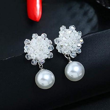 Pelloy beige Quasten-Ohrringe handgefertigt Rattan Ohrringe M/ädchen Ohrringe Zubeh/ör Perlen Blumen Ohrringe M/ädchen Ohrringe Schmuck Zubeh/ör