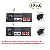 Eillet 2-Pack NES Controller for Nintendo NES 8 Bit Entertainment System Console Control Pad Replacement Controllers