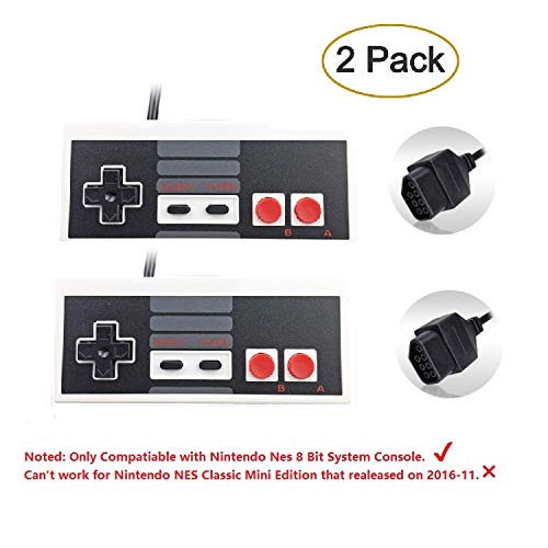 - Eillet 2-Pack NES Controller for Nintendo NES 8 Bit Entertainment System Console Control Pad Replacement Controllers
