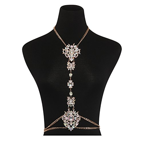 Holylove Body Chains Crystal Women Novelty Jewelry Necklace 1 PC with Gift Box-HLBN77 - Jewelry Body Bling