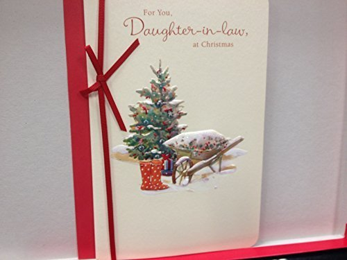 Daughter-in-law at Christmas Luxury Handmade New Uk Greetings Card