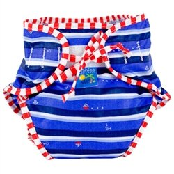 Kushies Swim Diaper, Blue Ahoy Print, Large